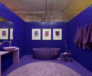 bath, interior design, and purple image