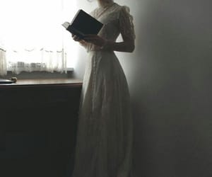 book, dress, and vintage image