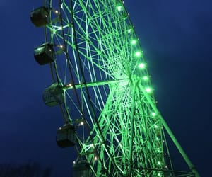 big wheel, ferris wheel, and green image