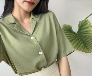fashion, asian, and green image