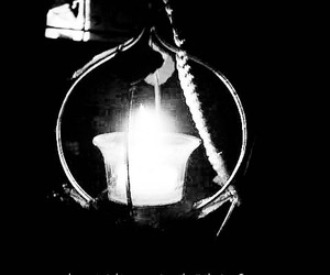 candle, light, and typography image