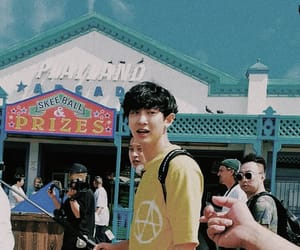 boyfriend material, chanyeol, and blue theme image