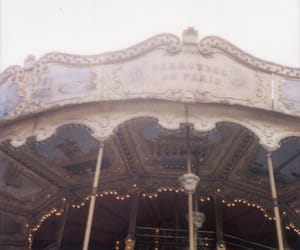 carousel, vintage, and paris image