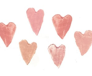 heart, pink, and hearts image