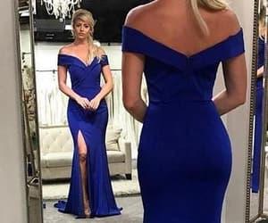 evening dress, prom dress, and off the shoulder dress image