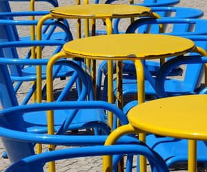 blue, chairs, and primary image