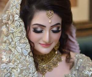 bride, clothes, and eyelashes image