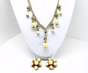 collectable, designer signed, and milk glass beads image