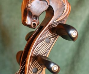 horse head, violin, and music instrument image