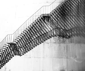 b&w, stairs, and stairway image