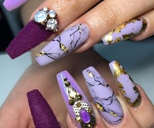 nail art, nails, and purple image