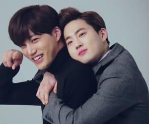 kai, exo, and suho image