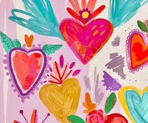 colores, heart, and wallpaper image