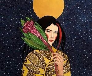 art, illustration, and flower image
