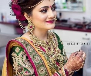 hairstyle ideas, bridal hairstyles, and indian bridal fashion image