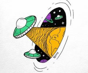 alien, espacio, and nave image