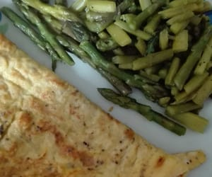 asparagus, eggs, and food image
