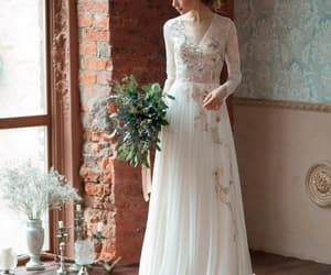 weddingdress, custommade, and laceweddingdress image