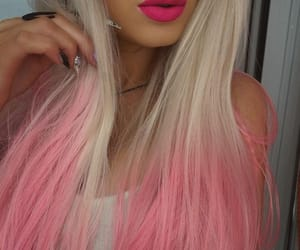 hair, lips, and pink image