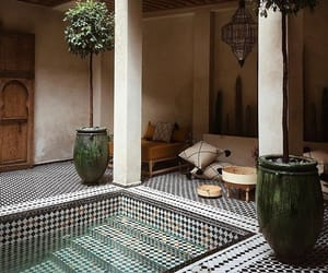 architecture, green, and marrakech image