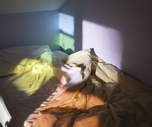 bedroom, light, and colors image
