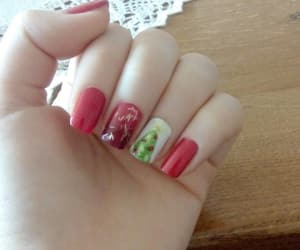 nails, xmas, and rednails image