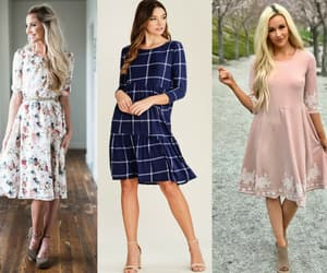 fashion, long sleeves, and knee length image