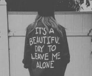 alone, grunge, and leave me alone image