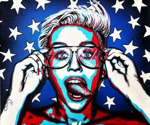 america, miley cyrus, and neon image