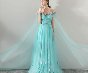evening dress, flower, and flower fairy image