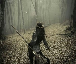 broom, spell, and forest image