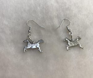 equine jewelry, gift for horse lover, and race horse earrings image