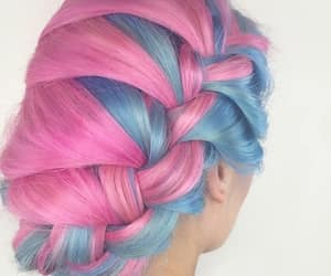 beautiful hair, hair, and colored hair image