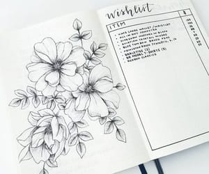 ideas, flowers, and journal image