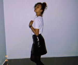 black, skinny, and bun image