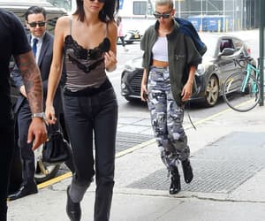 kendall jenner, celebrity', and hailey baldwin image