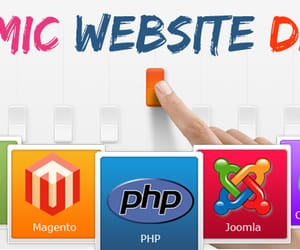 dynamic website design image