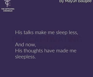 sleep less and his thoughts image