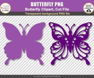 silhouette, cricut, and svg butterflies image