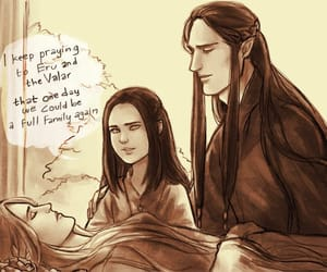 art, feanor, and miriel image