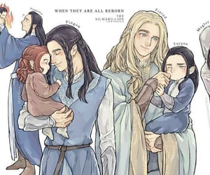 elves, feanor, and maedhros image