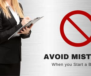 business startup and business mistakes image