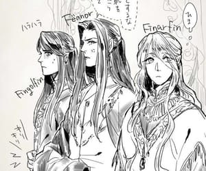 elves, feanor, and finarfin image