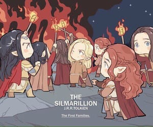 art, silmarillion, and elves image