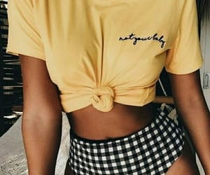 fashion, yellow, and summer image