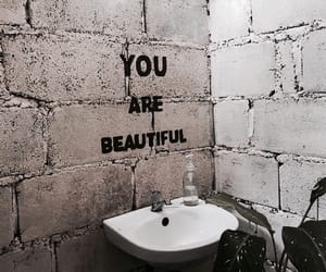 beautiful, quotes, and bathroom image