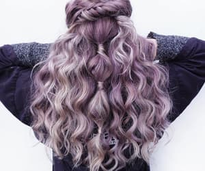 hair, braid, and curls image