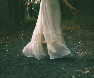 dress, forest, and indie image