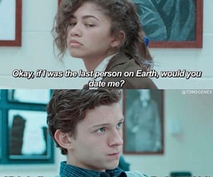 zendaya, funny, and tom holland image