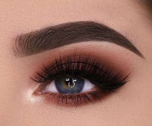blue eyes, brows, and make up image